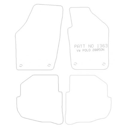 VW Polo 2005-2009 Tailored Mat Set (Grey)