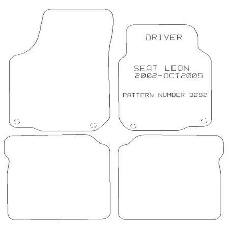 Seat Leon 2000-2005 Tailored Mat Set (Grey)